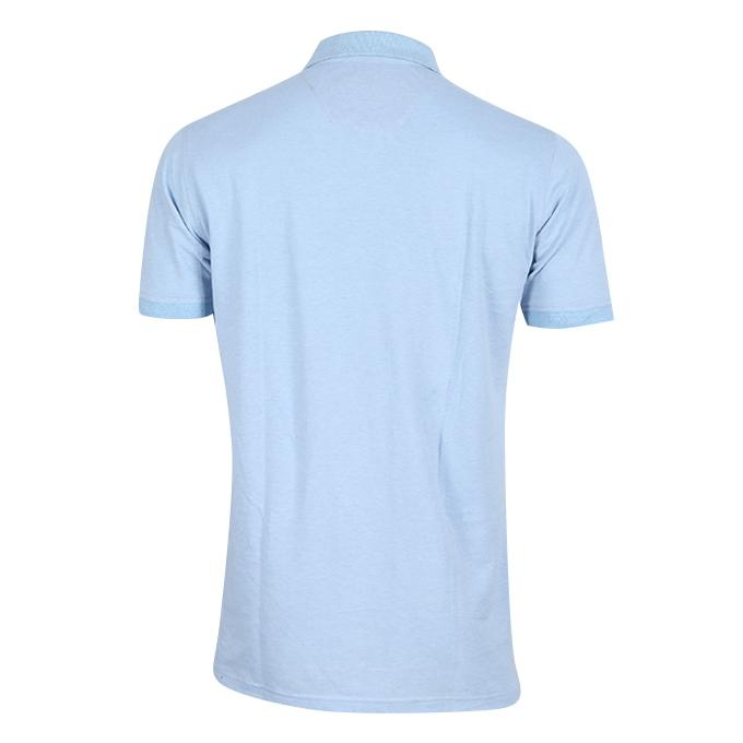 Light Sky Blue Cotton Polo For Men
