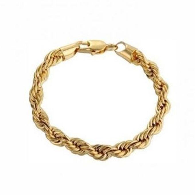 Brass 23k Yellow Gold Bracelet For Men