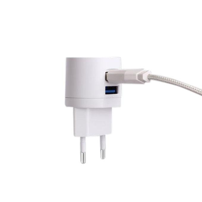 Awei C - 900 Double USB Charger Adapter Charging - White