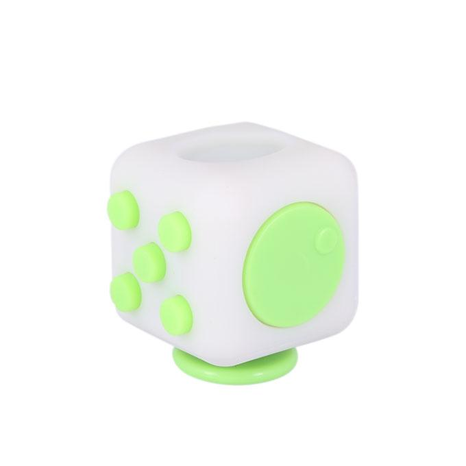 Fidget Cube Relieves Stress & Anxiety – Lime and White