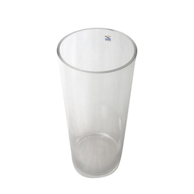 """Cylinder Glass Vase - 16"""" - Transparent"""