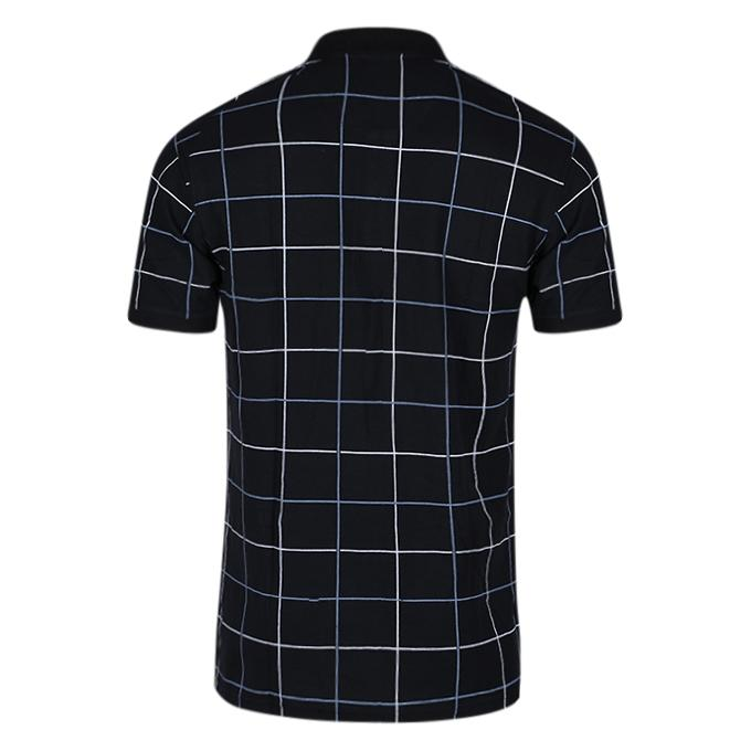 Black Cotton Casual Short Sleeves Polo For Men