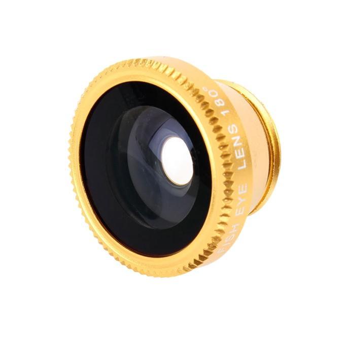 HiTz Selfie Camera Lens For Smartphones - Black and Golden
