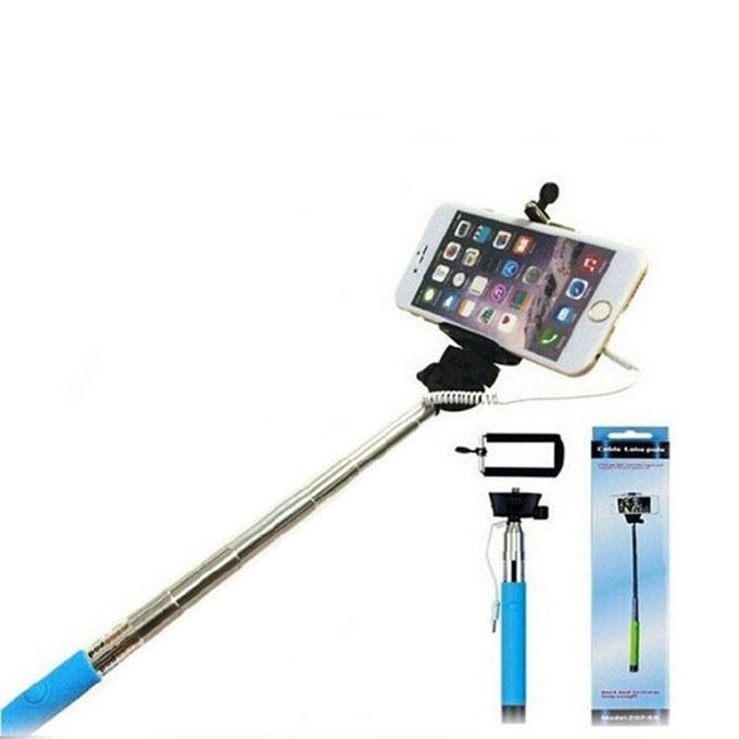 Monopod Selfie Stick - Black and Blue