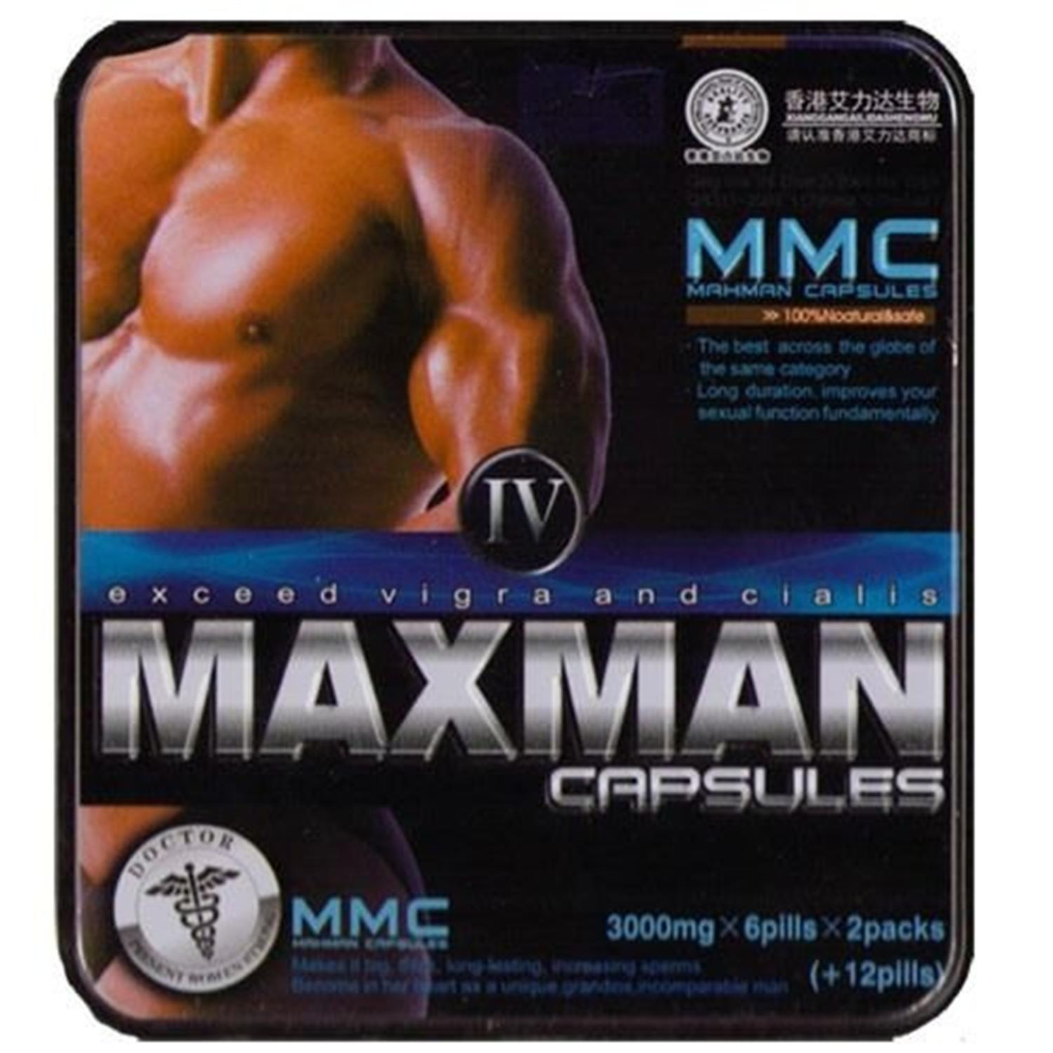 Maxman IV Capsule 100% Safe and Natural Herbal Supplement  For Men