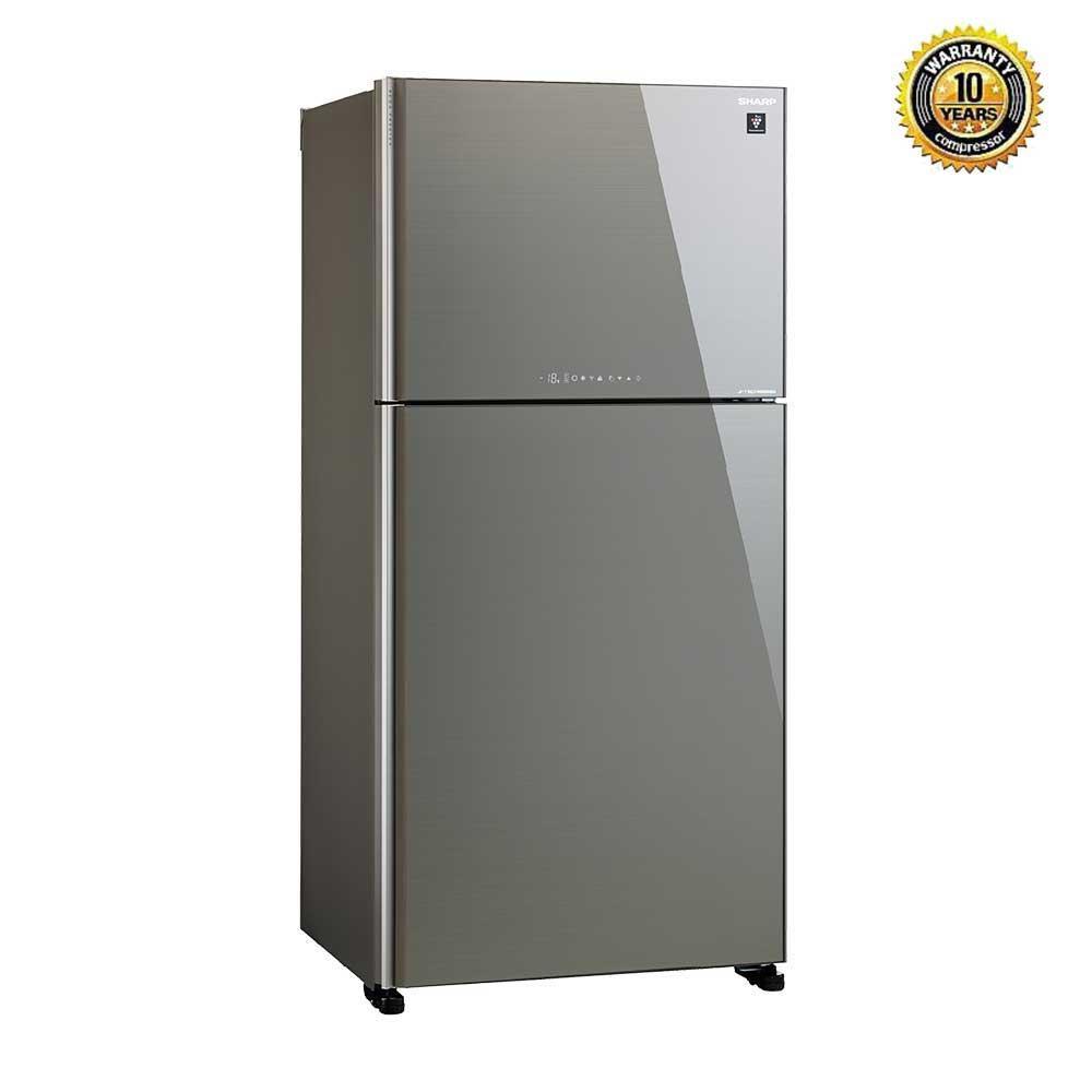 Sharp Inverter Refrigerator SJ-EX645P - Silver