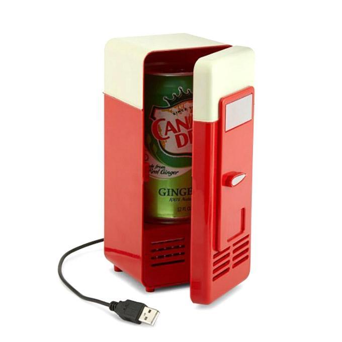 Portable USB Mini Fridge - Red