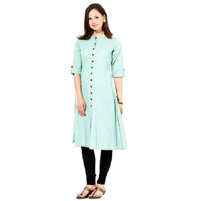 Pest Chinese Linen Semi Stitched Kurti For Women