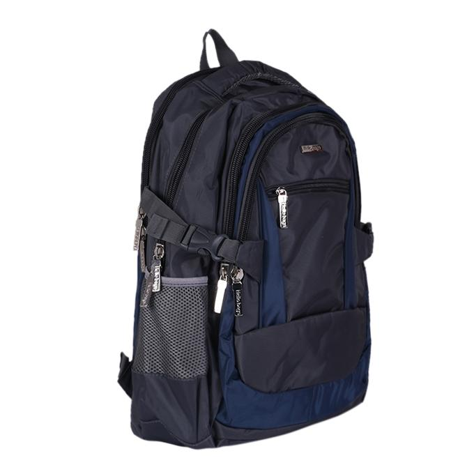 Polyester Backpack - Gray And Blue