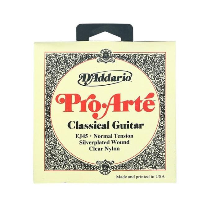 D'Addario EJ47 80/20 Bronze Pro-Arte Nylon Classical Guitar Strings Normal Tension