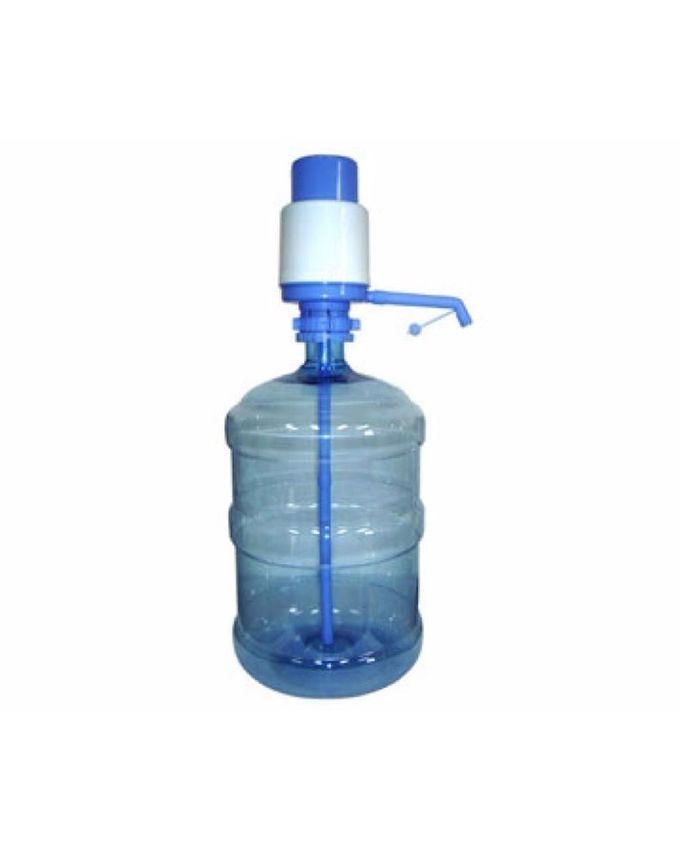 Water Jar Hand Pump - White & Blue