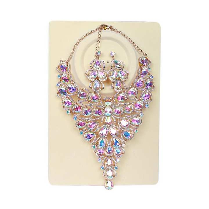 Multicolor Crystal Stone Jewelry Set for Women