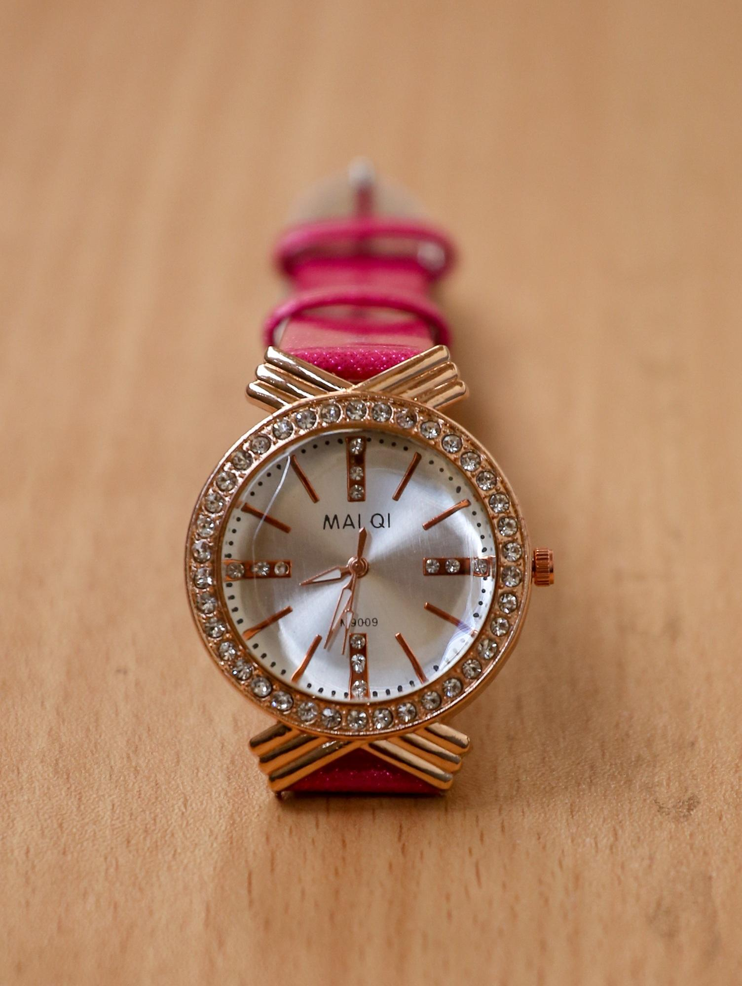 65ec4e91ce3 ... Watches Sunglasses Jewellery. Pink Artificial Leather Analog Watch For  Women
