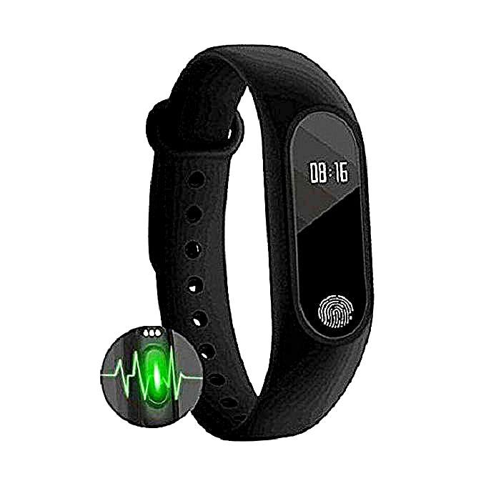 M2 Waterproof Smart Fitness Band - Black