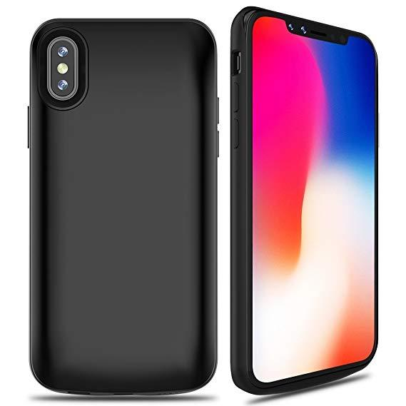 iPhone X Battery Case 5000mAh Rechargeable Charger Case Portable Charging Case iPhone X /10