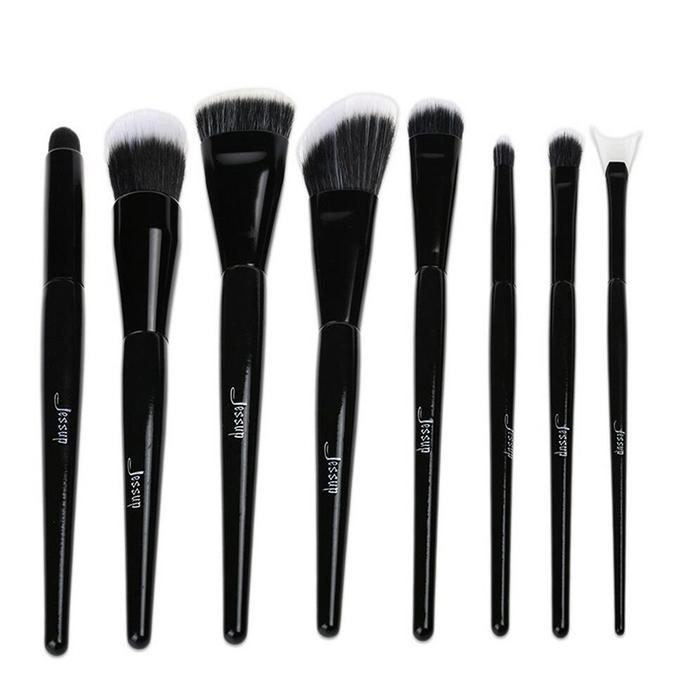 T109 8 PCs Individual Series Brush Set - Black