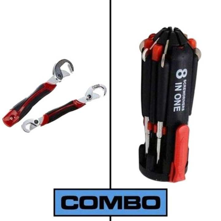 Combo of Snap Grip + 8 In 1 Portable Screwdriver