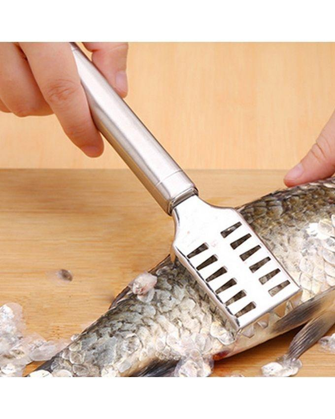 Stainless Steel Fish Scale Cleaner - Silver