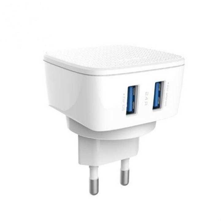 DL-AC66 USB Travel Charger 2.4A - White