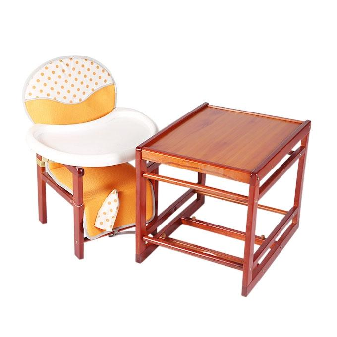 Multi Color Wood High Chair For Kids