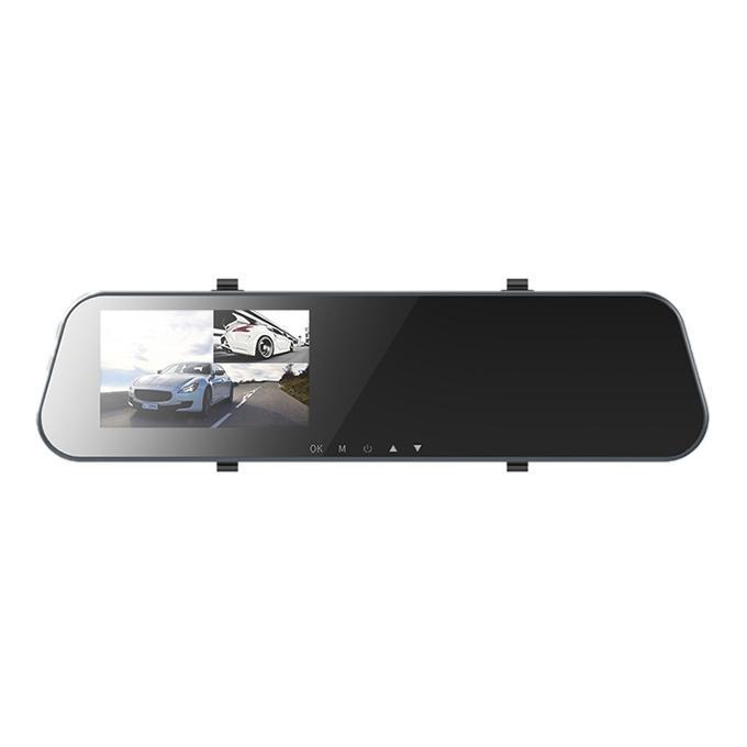Dash Cam with Rear View Mirror - Black