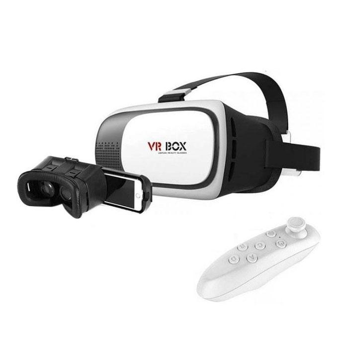 88b9ef72fe64 VR BOX 2.0 Virtual Reality 3D Glasses With Remote - White and Black