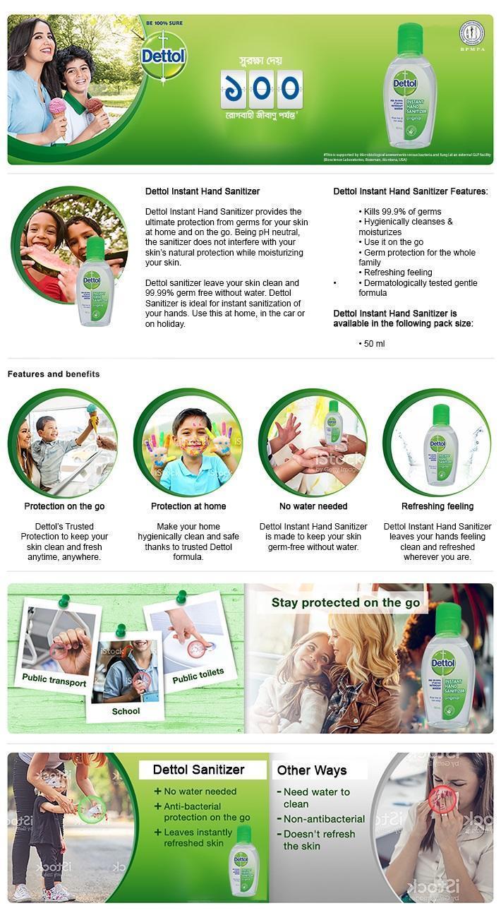 Image result for Dettol Instant Hand Sanitizer 50ml