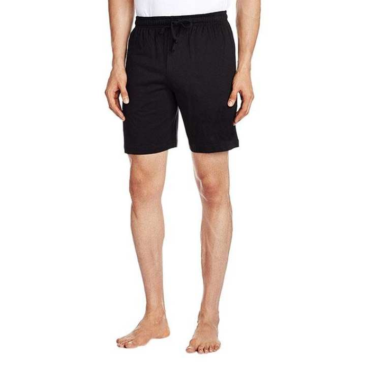 Black Cotton Shorts For Men