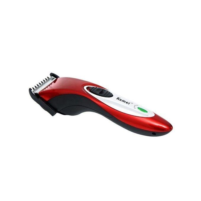 KM-3801 New Cordless Hair Trimmer - Red