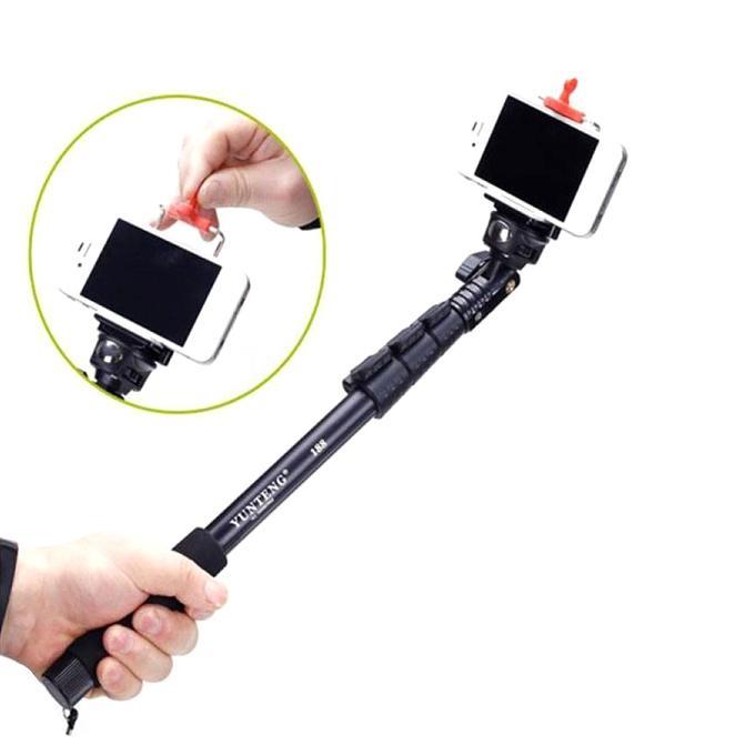 Handheld Monopod Holder Selfie Stick with Remote - Black