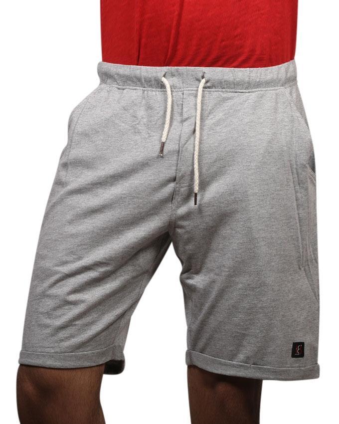 Light Gray Cotton Casual Shorts  for Men