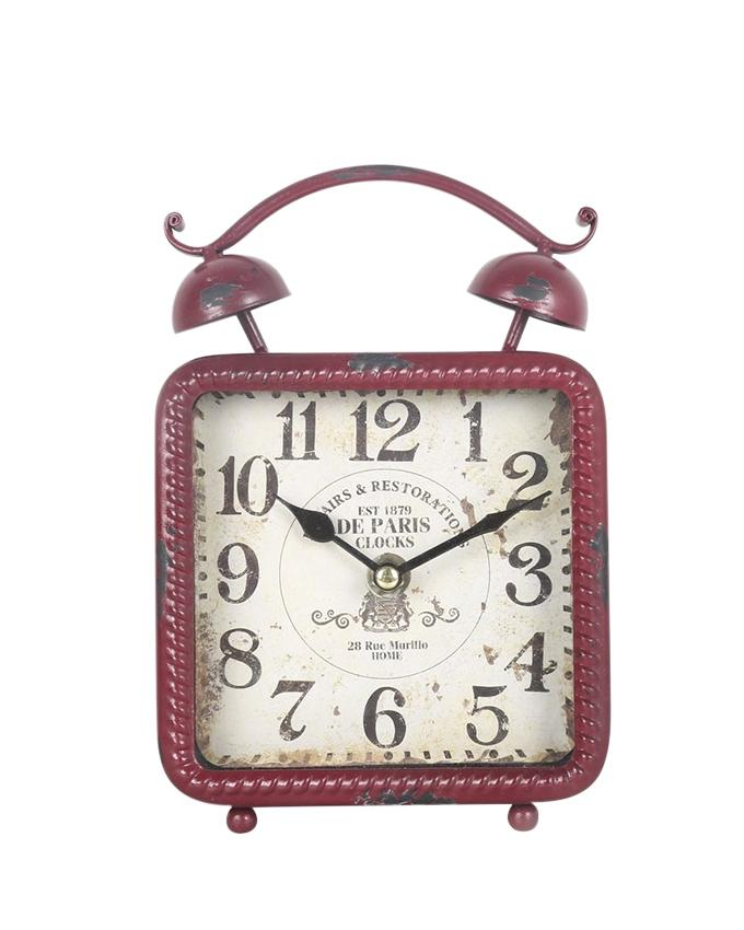 Antique Table Clock - Red