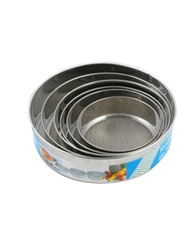 Durable Stainless Steel Mesh Sifter 6 pcs Set - Silver
