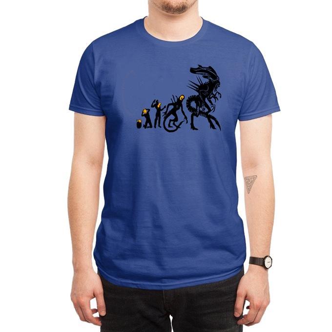 Blue Cotton Dragon Revolution T-Shirt For Men