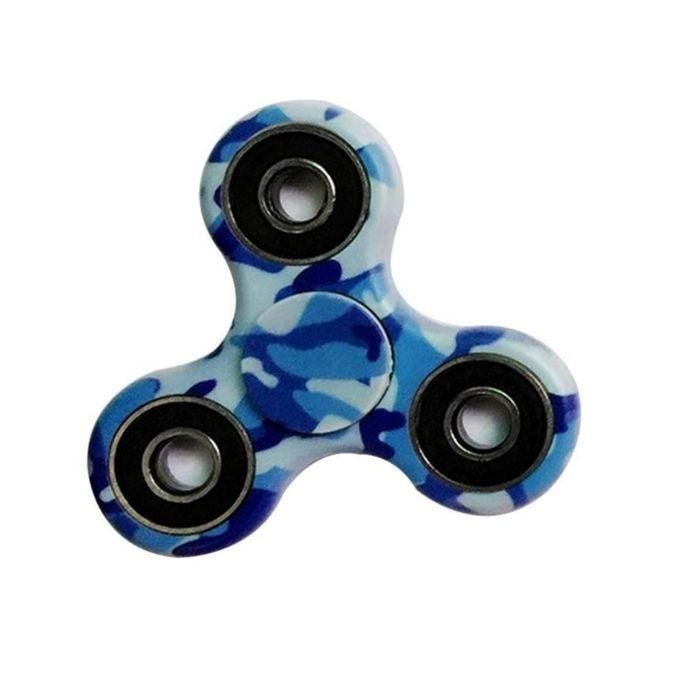 EDC Fidget Spinner Stress Reducer Toy - Blue Mix