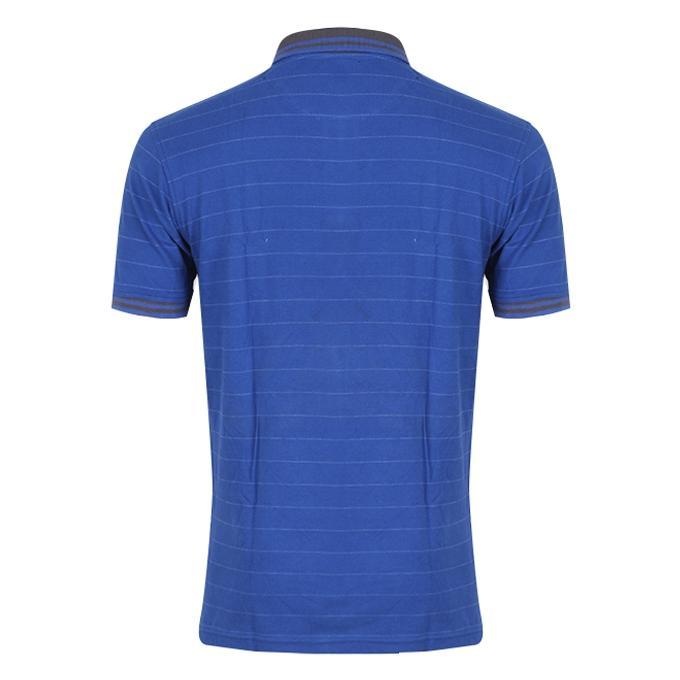 Deep Blue Cotton Polo For Men