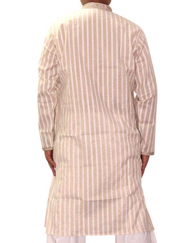 Beige Cotton Panjabi For Men