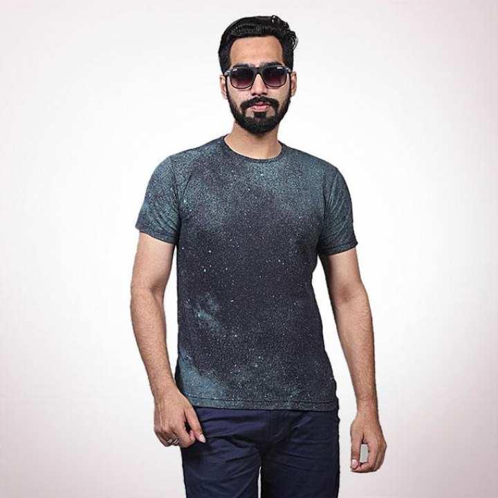 Green Cotton Casual T-Shirt for Men