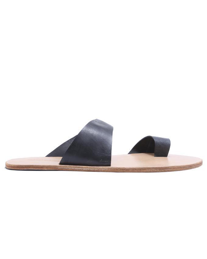 Leather Men Sandals - Black
