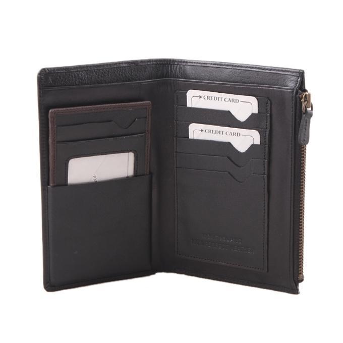 Black PU Leather Wallet For Men