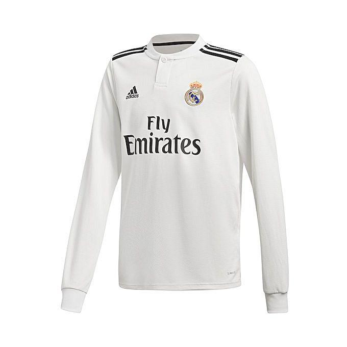 the latest ed705 b9a01 Real Madrid 2018/19 Home Jersey - Long Sleeve