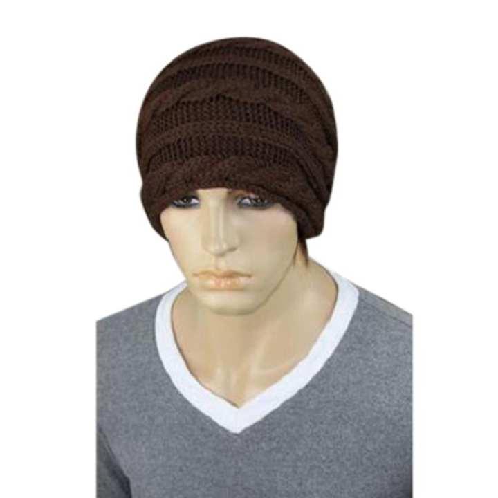 035471c6d71 Chocolate Woolen Winter Cap For Men  Buy Online at Best Prices in ...
