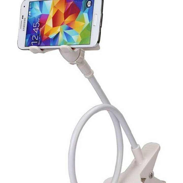 Flexible Twisting Long Stand for Smartphone - White