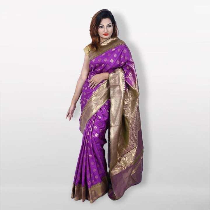 Purple Reshmi Silk Mirpur Katan  For Women