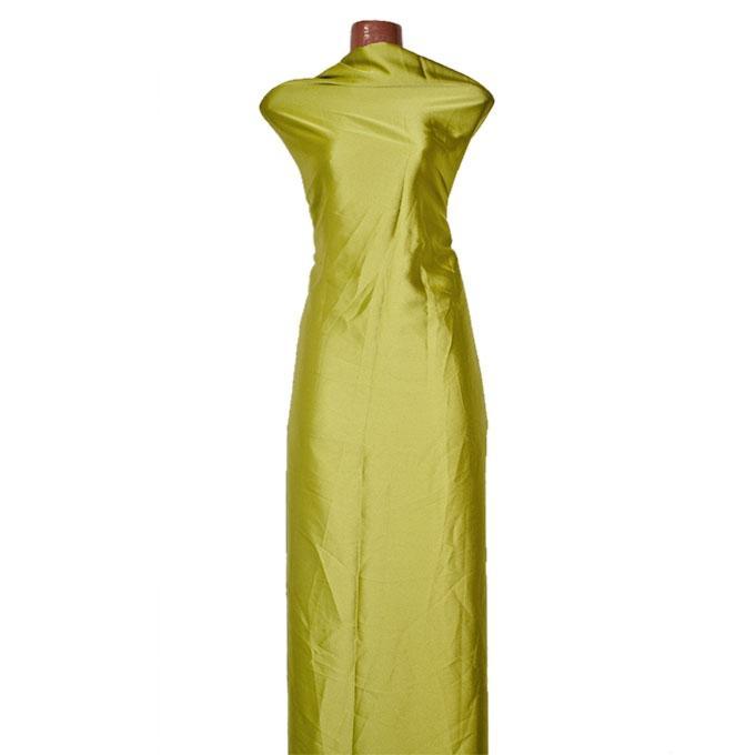 Olive Chinese Shamu Silk Unstitched Fabric