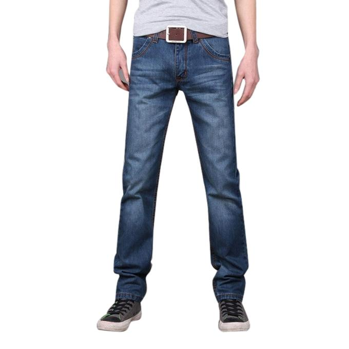 Navy Blue Denim Jeans For Men