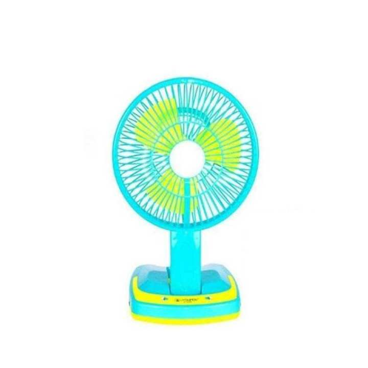 Rechargeable Angle Adjustment Portable Mini Fan - Blue and Yellow