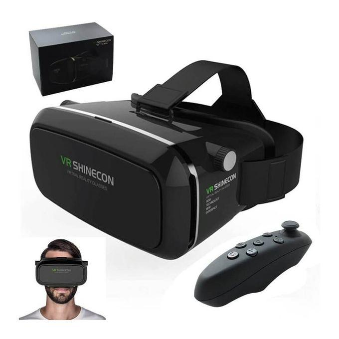 3D Glasses VR BOX with Remote Controller - Black