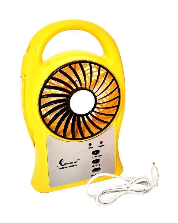 Portable Mini Fan with LED Light - N/A