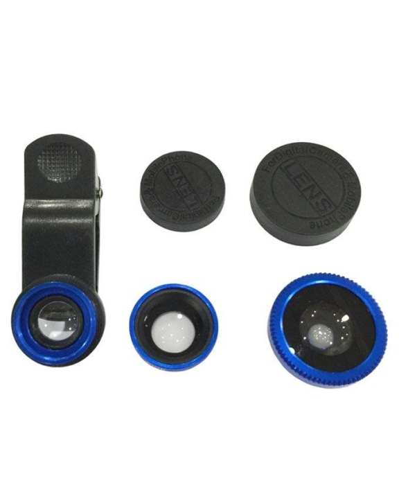 3-In-1 Clip Lens Camera for Smartphones - Blue